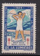 VIGNETTE 1929 NSG DE LA LUMIERE - Erinnophilie