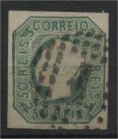 PORTUGAL, 50 Reis 1855, PEDRO V, Yellow Green Used - Oblitérés