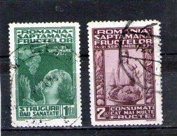 1934 - Semaines Des Fruits  Michel = 478/479 Et Yv 475/476 - 1918-1948 Ferdinand, Carol II. & Mihai I.
