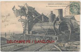 08 // NOVION PORCIEN   Le Tamponnement Du 9 Novembre   ANIMEE / Accident Train - France