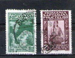 1934 - Semaines Des Fruits  Michel = 478/479 Et Yv 475/476 - Usado