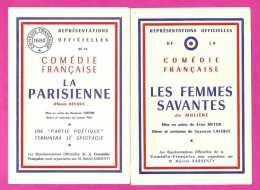 Lot De 9 Programmes De Théâtre - Programmes