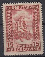 OOSTENRIJK - Michel - 1918 - Nr 143 (Bosnie-Herzegowina) - MH* - Levant Autrichien