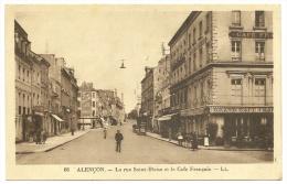 ALENCON Rue Ste Blaise Et Café Français (LL) Orne (61) - Alencon