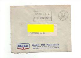 Flamme SECAP Evénementielle Sur Lettre Entête MOBIL: Boom HEC De 1960, De Paris 75 XVII° - Marcophilie (Lettres)