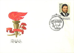 FDCs. USSR 1988 SK№5905 70 YEARS FROM THE DATE OF THE BIRTH OF NELSON MANDELA - 1923-1991 USSR