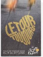 "CYCLISME 2008  ""  CARTE DU TOUR  "" CPM 10X15 - Cyclisme"