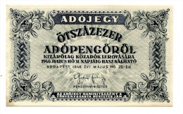 Hongrie Hungary Ungarn 50000 AdoPengorol 1946 AUNC / UNC # 3 - Hongrie