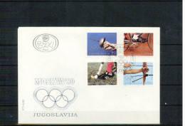 Jugoslawien / Yugoslavia 1980 Olympic Games Moscow FDC - Zomer 1980: Moskou