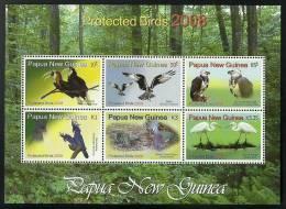 png0802sh Papua New Guinea 2008 Birds s/s Pigeon Eagle Hombill Crane Parrot