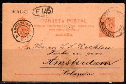 Reply Card 1905 To Amsterdam Holanda (s223) - 1850-1931