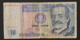 PERU  10  INTIS  1987     -    (Nº03458) - Perú