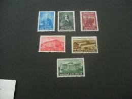 F8012- Set Mint Hinged Hungary 1938- SC. 529-534- Debrecen College - Hungary