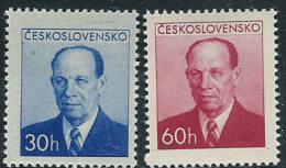 Cecoslovacchia 1953 Nuovo** - Mi.814/5  Yv.716/7 - Cecoslovacchia
