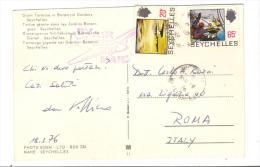 VER3084 - SEYCHELLES 1974 , Cartolina (GIANT TORTOISE) Per L'Italia - Seychelles (1976-...)