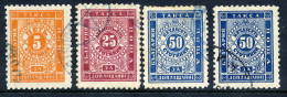 BULGARIA 1887 Postage Due Set Of 3 + Dark Blue Shade Of 50 St.,  Used - Postage Due