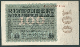GERMANY 1923 100 MILLION MARK P107a UNC -CAG - [ 3] 1918-1933 : Weimar Republic
