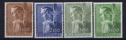 Portugal: 1954 Mi 831 - 834 MNH/**  Nr 834 Has A Small Spot On Nose - 1910 - ... Repubblica