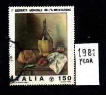 - ITALIA - REPUBBLICA - Serie Completa - Year 1981 - Giornata Mondiale Alimentazione  - Viaggiati - Traveled - Reiste - 6. 1946-.. Repubblica