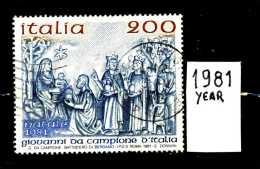 - ITALIA - REPUBBLICA - Serie Completa - Year 1981 - S.NATALE  - Viaggiati - Traveled - Reiste - 6. 1946-.. Repubblica
