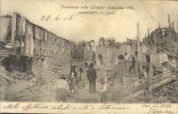 ZAMMARO'    TERREMOTO  1905  COSENZA  VIAGGIATA COME DA FOTO  PIEGA INCOLLATA LATO DESTRO SUL FRONTE NO RETRO - Cosenza