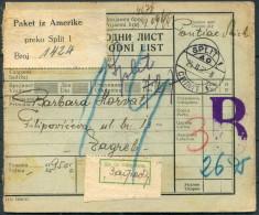 1938 Croatia Split Parcelcard - Zagreb - Croatia
