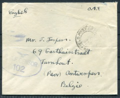 GB On Actvie Service - Royal Signals Cover To Antwerp Belgium - RAF Censor - 1902-1951 (Kings)