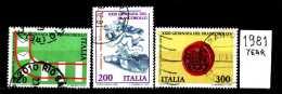 - ITALIA - REPUBBLICA - Serie Completa - Year 1981 - XXIII Giornata Del Francobollo - Viaggiati - Traveled - Reiste - 6. 1946-.. Repubblica