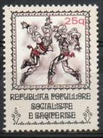 Albania 1977 - Danza Folcloristica Albanese, Albanian Folk Dance MNH ** - Albanie