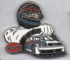 Superbe Pin´s En Zamac , Auto Audi , Carburant Antar , Pneu Dunlop , Volant Noir - Audi
