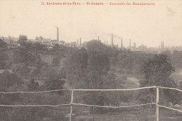 02 SAINT GOBAIN  Vue Sur Les MANUFACTURES USINES Cheminées Fabrique De Glaces  à Travers CHAMPS - Zonder Classificatie