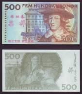 (Replica)China BOC (bank Of China) Training/test Banknote,SVERIGES RIKSBANK Sweden 500 Kronor Note Specimen Overprint - Sweden