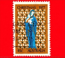 AUSTRALIA ~  Usato ~ 1977 - Natale - Christmas - Noel - Navidad - Madonna E Bambino -  45 C - 1966-79 Elizabeth II