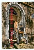 POSTE - Facteur Sur Son Ane En Corse - Anes - Ass - Aniso -- Dos Scanné - Postal Services
