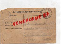23- CHATELUS LE MARCHEIX - KRIEGSGEFANGENENSENDUNG- SOLTAU HANNOVER- MME LAMATIERE A LAVAUD 1917-GUERRE 14-18 - Lettres & Documents