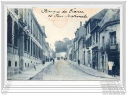 CPA 95 BEAUMONT SUR OISE / BANQUE DE FRANCE ET RUE NATIONALE / TRES ANIMEE - Beaumont Sur Oise
