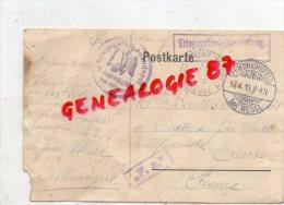 23- CHATELUS LE MARCHEIX - LETTRE GUERRE 1914-1918- KRIEGGEFANGENENDEPOT-FRIEDRICHSFELD 1915 BEI WESEL-BASTOUX - France