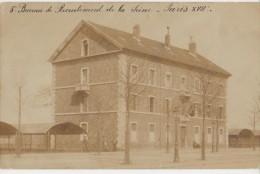 CPA PHOTO 75 PARIS XVII Boulevard Bessières Fortifs Bastion 40 5° Bureau De Recrutement De L´ Armée Soldats 1905 Rare - Arrondissement: 17