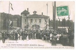 CPA : FONTAINES-SAINT-MARTIN (Rhône) - ANIMEE - A CIRCULE - 1911 - - Sin Clasificación