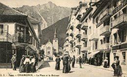 CPA 74 CHAMONIX LA PLACE ET LE BREVENT - Chamonix-Mont-Blanc
