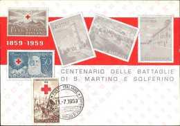 ITALIA - CENTENARIO ARMISTIZIO DI VILLAFRANCA - 11.07.1959 - ANNULLO SU CARTOLINA - 1946-60: Poststempel