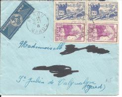 MAROC - Enveloppe D´AZROU Du 31-7-41 - Marruecos (1956-...)