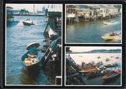 BRUNEI DARUSSALAM - POSTCARD - Boat As Water Taxi, Boat Shop - Unused ** - Brunei