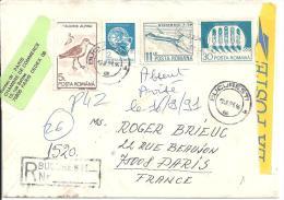 ROUMANIE - Lettre Recommandée De BUCAREST Du 12-9-91 - Marcofilia