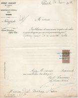 VP208 - PARIS X LAGNY 1911 - Facture  De Me BOISSEAU - Facturas & Documentos Mercantiles