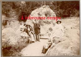 1909-Excellent Cliché-gorges Du Loup N°1-famille En Promenade Au Pied De La Croix De Saint Arnoux-pont-photo BUSIN-mode - Orte