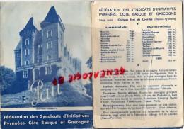 64 - PAU - ET SA REGION - DEPLIANT TOURISTIQUE DU SYNDICAT INITIATIVE ANNEES 1950-BAGNERES-LUZ-GOURETT E - Documents Historiques