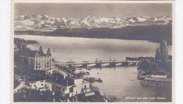 SWITZERLAND - ZURICHMIT SEE UND ALPEN - ZH Zurich