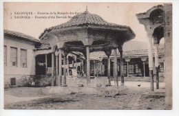REF 140 : CPA SALONIQUE Fontaine De La Mosquée Des Derviches - Cartes Postales