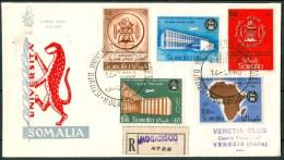 1960 14 Gen.Somalia AFIS Inaugurazione Istituto Universitario Somalo FDC Venezia Viaggiata -Nu183 - Somalia (AFIS)